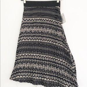 Lularoe Jill Midi Chiffon Pleats Skirt